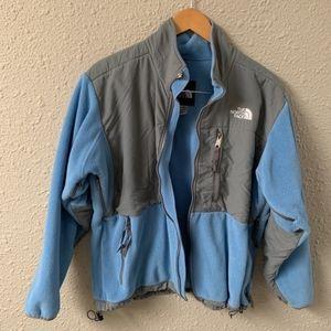 North Face Light Blue Full Zip Fleece Jacket